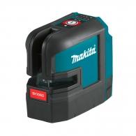 Акумулаторен линеен лазерен нивелир MAKITA SK105DZ, 12V, 2.0-4.0Ah, 2 лазерни линии, точност 3mm/10m, автоматично