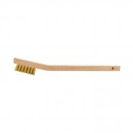 Четка ръчна WEILER, 3 реда, месинг, 0.15мм-тел, с дървена дръжка