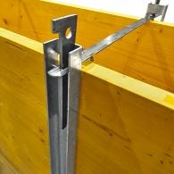 Дистанциал LEGNOTRE 650мм, за олекотен дървен кофраж, стомана, 100бр. в опаковка