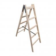 Дървена стълба ЕКО 2x5, 1500мм, двустранна, домашна употреба