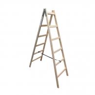 Дървена стълба ЕКО 2x7, 2200мм, двустранна, домашна употреба