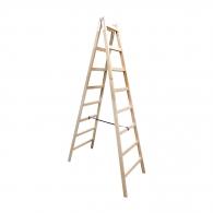 Дървена стълба ЕКО 2x8, 2500мм, двустранна, домашна употреба