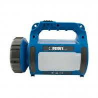 Фенер акумулаторен FERVI 0123, LED, 3.7V, 1800mAh Li-Ion, 12V и 230V
