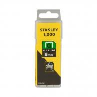 Кламери STANLEY 11/8мм, тип 11/G, плоска тел, 1000бр/кутия