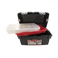 Куфар за инструменти TAYG 450E, с органайзер и тава, полипропилен, черен