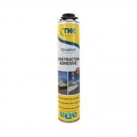Полиуретанова пяна за зидане TKK Tekapur Construction Adhesive, 800мл, пистолетна, всесезонна  (над -5°C)