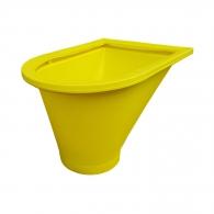 Улей направляващ за насипни материали TEKCNOPLAST 0.650м, полипропиленов, жълт