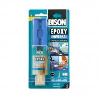 Универсално двукомпонентно епоксидно лепило BISON Epoxy Universal 24мл, универсално
