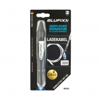 UV ремонтен гел писалка BLUFIXX 5гр., бял, за кабелни обшивки на зарядни устройства, к-кт със светодиод
