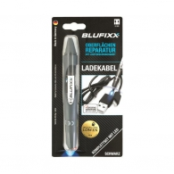 UV ремонтен гел писалка BLUFIXX 5гр., черен, за кабелни обшивки на зарядни устройства, к-кт със светодиод