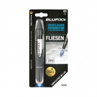 UV ремонтен гел писалка BLUFIXX 5гр., бял, за плочки, гранит и мрамор, к-кт със светодиод