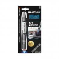 UV ремонтен гел писалка BLUFIXX 5гр., антрацит, за пластмасов интериор на автомобили, к-кт със светодиод