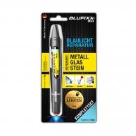 UV ремонтен гел писалка BLUFIXX MGS 5гр., прозрачен, за метал, стъкло и камък, к-кт със светодиод