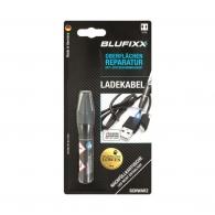 UV ремонтен гел пълнител BLUFIXX 5гр., черен, за кабелни обшивки на зарядни устройства