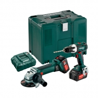 Акумулаторен комплект METABO Combo Set (BS 18 LT + W 18 LTX 125 Quick), 18V, 4.0Ah, Li-Ion
