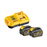 Батерия акумулаторна DEWALT XR DCB546х2 + DCB118, 54/18V, 2.0/6.0Ah, Li-Ion, к-кт