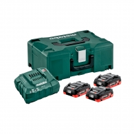 Батерия акумулаторна METABO 18Vx3 + ASC 30-36 + куфар, 18V, 4.0Ah, LiHD, к-кт