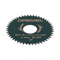 Диск циркулярен DREMEL 31.8x3.2мм Z=48, за рязане на мека и твърда дървесина, инстр. стомана, остър зъб