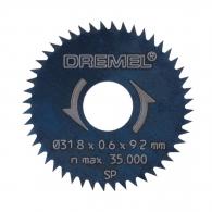 Диск циркулярен с остър зъб DREMEL 31.8x3.2мм Z=48, за рязане на мека и твърда дървесина, инстр. стомана