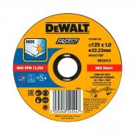 Диск карбофлексов DEWALT 125х1.0х22.23мм, за рязане на неръждаема стомана