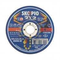 Диск карбофлексов SWATYCOMET SKORPIO 2x2 125x2.5x22.23мм, за рязане и шлайфане на неръждаема стомана и метал