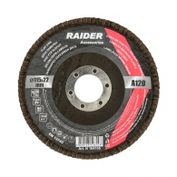 Диск ламелен RAIDER 115х22.23мм P100, за шлайфане на метал, камък, дърво и пластмаса