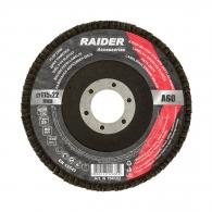Диск ламелен RAIDER 115х22.23мм P60, за шлайфане на метал, камък, дърво и пластмаса