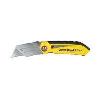 Макетен нож STANLEY 18х170мм, метален корпус, трaпецовидно острие, сгъваем