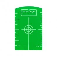 Мишена магнитна за лазерен нивелир LASERLINER, зелена, с двойна скала
