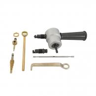 Приставка за бормашина за ножица за ламарина FERVI, за ламарина 1.8мм, алуминий 2.0мм, неръждавейка 1.2мм