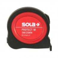 Ролетка SOLA PROTECT M 5m x 25mm, с магнит, гумирана, пласмасов корпус, EG-клас 2