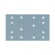 Шкурка велкро FESTOOL Granat 80х133мм Р220, за лак и боя, с 14 отвора, син, правоъгълна, самозалепваща