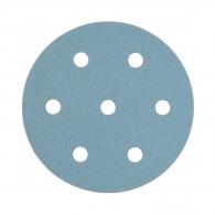 Шкурка велкро FESTOOL Granat 90мм P120, за лак и боя, с 6+1 отвора, синя, самозалепваща