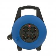 Удължител на макара AS SCHWABE 10м, 3х1.5, H05VV-F , 4 монофазни контакта, IP20