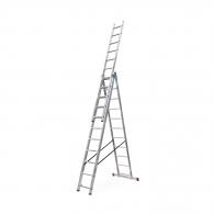 Алуминиевa стълба KRAUSE CORDA 3х11, 4300/5350/7250мм, трираменна, професионална, 150кг.