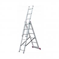 Алуминиевa стълба KRAUSE CORDA 3х6, 2700/3200/4550мм, трираменна, професионална, 150кг.