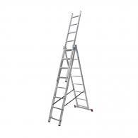 Алуминиевa стълба KRAUSE CORDA 3х8, 3200/4000/5400мм, трираменна, професионална, 150кг.