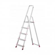 Алуминиевa стълба KRAUSE CORDA 4+1, 1000мм(на стълбата), едностранна, за домашна употреба, 150кг.
