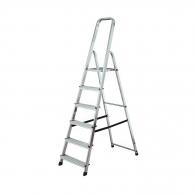 Алуминиевa стълба KRAUSE CORDA 5+1, 1200мм(на стълбата), едностранна, за домашна употреба, 150кг.