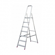 Алуминиевa стълба KRAUSE CORDA 6+1, 1450мм(на стълбата), едностранна, за домашна употреба, 150кг.