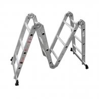 Алуминиевa стълба KRAUSE MultiMatic 4x4, 3250/3550/5500мм(на стълбата), многофукционална, сгъваема, 150кг.