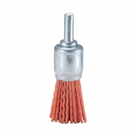 Четка камбанка MAKITA ф22x6мм P80, за бормашина, конусовидна, найлонова, с опашка 6мм, грубо, оранжев