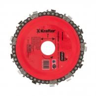 Диск верижен KRAFTER 115х22.23мм, за рязане на дърво
