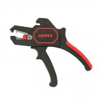 Клещи за заголване на кабели KNIPEX 0.2-6.0кв.мм, автоматични, изолирани, вграден резач за кабели до 2.5кв.мм