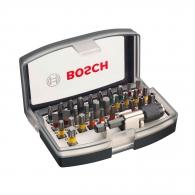 Комплект накрайници BOSCH 32части, PH, PZ, SB, TX , шестостен с магнитен държач