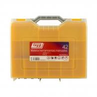 Куфар за инструменти TAYG 42, с един органайзер, полипропилен, син/жълт