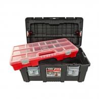 Куфар за инструменти TAYG 550E, с органайзер и тава, полипропилен, черен