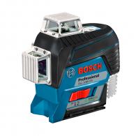 Линеен лазерен нивелир BOSCH GLL 3-80 CG, 3 лазерни линии, точност 2mm/10m, автоматично