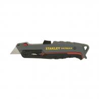 Макетен нож STANLEY FatMax 18х165мм, метален корпус, трaпецовидно острие, 5бр резевни остриета
