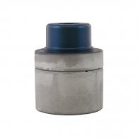 Накрайник за поялник за заваряване DYTRON ф63мм/син, за тръби PP,PB,PE,PVDF, 850W/1200W, плоска муфа, син тефлон